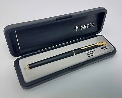 New Old Stock 1986 Vintage Parker Classic Black Roller Ball Pen, Made in USA