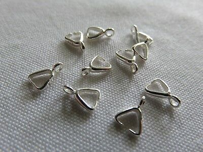 10pcs Sterling silver triangle connectors
