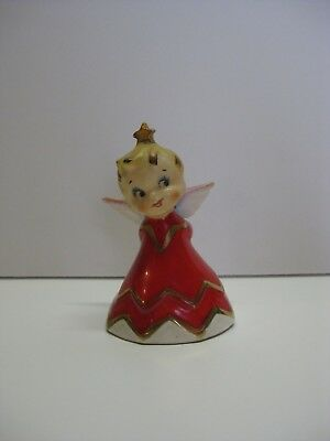 Vintage 1956 Lefton Naughty Christmas Angel Bell with Slingshot, **LAST CHANCE**
