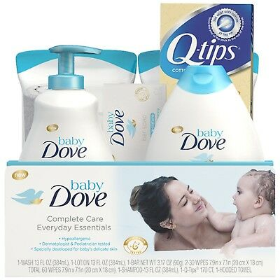 Baby Dove Complete Care Gift Set Everyday Essentials 7 pc Bath Wash Skin Care