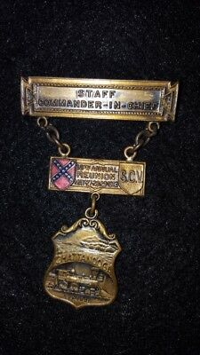 1913 SCV Chattanooga, TN Staff Commander 18th Reunion Medal May 27th-29th
