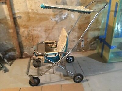 VINTAGE 1960's Taylor Tot Stroller w/ Canopy Fold Up Buggy RARE & Hard to Find