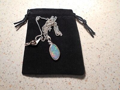 Cooper Pedy 100% Black Opal Pendent Comes With A Free Black Velvet Pouch.