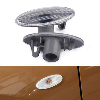 2pcs Clear Side Turn Signal Indicator Marker Light Cover for Nissan Juke X-TRAIL