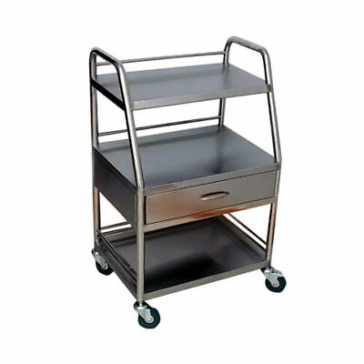Stainless Steel Hospital Medical Dental Trolley Cart One Drawer W/ 3 Layers NBTS