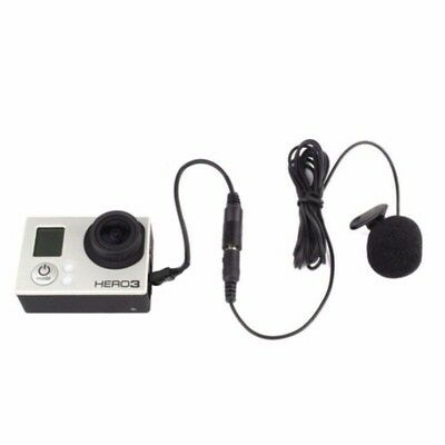 Mini USB to 3.5mm Adapter Cable + Clip Mic Microphone for Gopro Hero 3 3+ /4