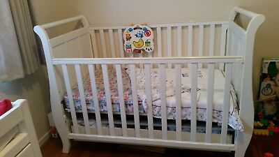 Beautiful White Sleigh style cot
