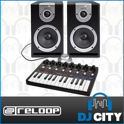 Reloop Studio Production Pack with 5 Inch Studio Monitors & 25-Key MIDI Keyboard