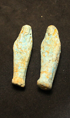 Antique Egyptian Ushabti terracotta GALSS glazed Faience