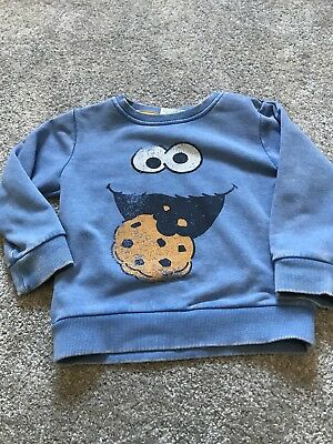 Next Boys Cookie Monster Jumper Age 18-24 Months