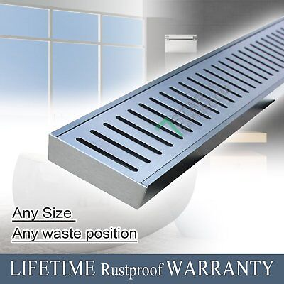 300 - 3900mm Shower Floor Grate Waste Drain 100mm Wide SwimmingPool Commercial