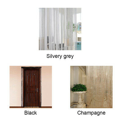 String Door Curtain Home Window Panel Room Divider Tassel Fringe Curtain