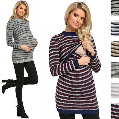 Happy Mama. Women's Maternity Nursing Knitted Sweater Long Sleeves. 490p