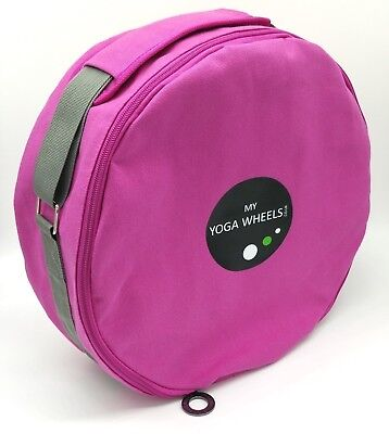 (Pink) - MyYogaWheels Yoga Wheel Bag Carry Case With Shoulder Strap - Fits All