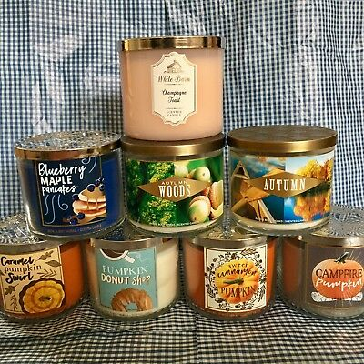 Bath and Body Works 3 Wick Candle Fall collection 2018