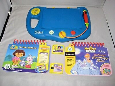 My First LeapPad Learning System Leap Frog 2 Books 2 Cartridges See Video Link