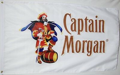 Captain Morgan Rum & Beer Pong Flags 3'x5' (2Pk) Party Decoration USA Seller