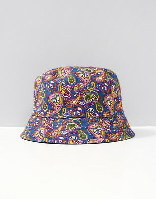 bad6a3f1ce9 Pretty Green Reversible Bucket Hat Vintage Paisley Navy