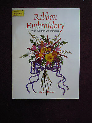 Ribbon Embroidery Book with Iron-On Transfers