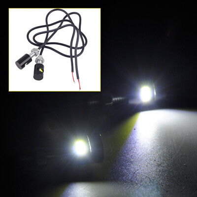 2Pcs 12V White LED Number License Plate Screw Bolt Light Lamp for Car Motorcycle