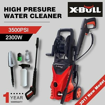 X-BULL High Pressure Water Cleaner 3500 PSI Washer Electric Pump Hose Gurney