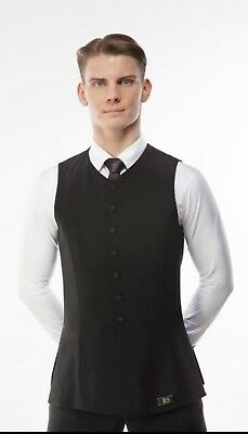 RS Atelier Ballroom Practice Competition Dancing Men's Youth Black Waistcoat DSI