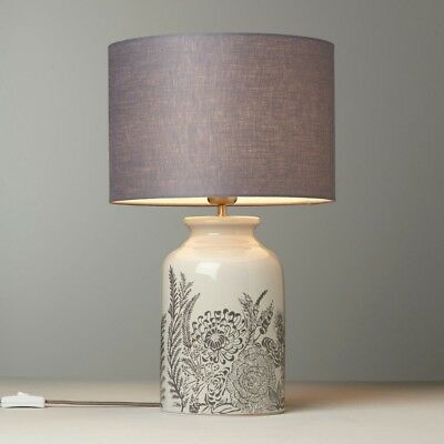 Crackle With John Switch Shade And Lamp Grey Glaze Lewis Woodcroft Table Cream CxBorde