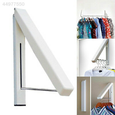 Stainless Folding Wall Hanger Mount Retractable Clothes Indoor Hangers Towel