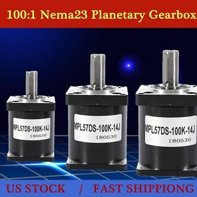 100:1 Planetary Gearbox Nema23 Stepper Motor for DIY CNC Mill Lathe Router NEW
