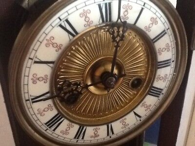 Antique  Mantel / Wall Clock With Key Pendulum
