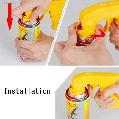 Grip Trigger Aerosol Spray Handle Can Plastic Black Yellow Painting
