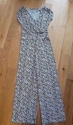 Ladies vintage retro animal zebra print jumpsuit. Size 12.