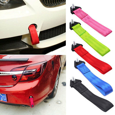 Universal Car Vehicle Parts Tow Towing Strap High Strength Bumper Hook 2Inch