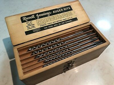 Stanley Russell Jennings No. 100 Auger Bit 32 1/2 Quarters - Complete In Box