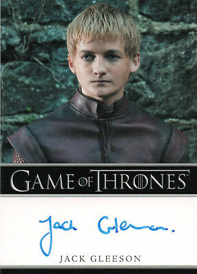 Game of Thrones Season One, Jack Gleeson 'Prince Joffrey' Autograph Card