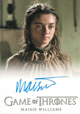 Game of Thrones Season One, Massie Williams 'Arya Stark' Autograph Card