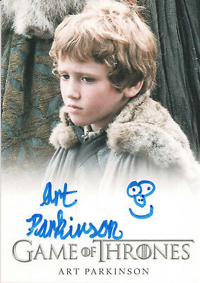Game of Thrones Season One, Art Parkinson 'Rickon Stark' Autograph Card