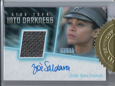 Star Trek Beyond Movie 2017, Zoe Saldana 'Uhura' Autograph/Relic Card