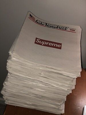 Supreme x New York Post Newspaper NYC Exclusive Limited Edition