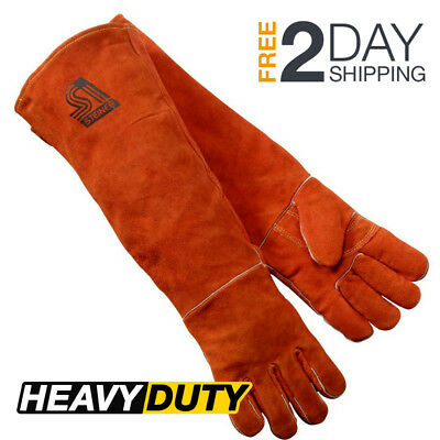 Steiner Thick Leather Welding Gloves Long Sleeve Heavy Duty Large Stick Tig Mig
