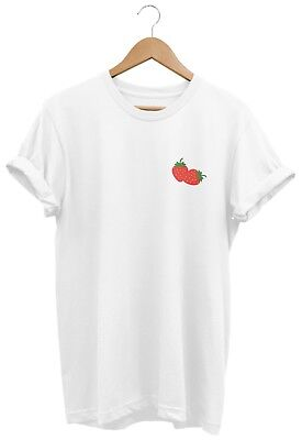 Strawberry T SHIRT UNISEX MENS WOMENS FUNNY HIPSTER TUMBLR FASHION SUMMER FRUIT
