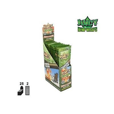 Juicy Jay's Hemp Wraps Tropical Passion Flavor Pack Of 25