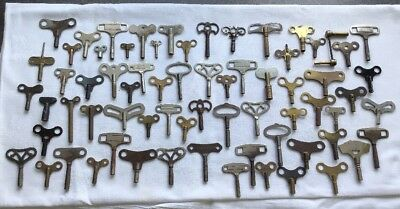 Job Lot of 68 Antique/Vintage Clock Keys