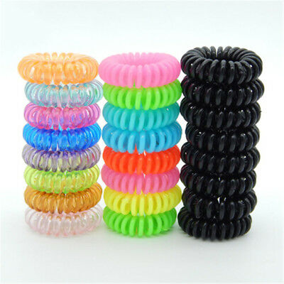 10 Pcs Plastic Hair Ties Spiral Hair Ties No Crease Coil Hair Tie Ponytail PT