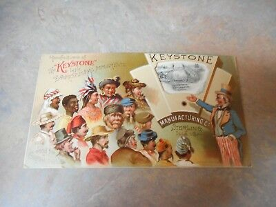 Vintage Keystone Manufacturing Farm Implements Trade Card W/uncle Sam