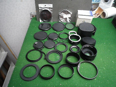 Job lot collection of sundry lens caps, rings adaptors, etc (see photo)