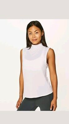 8640648acf Lululemon Athletica Twist And Reach Tank Heathered White Sold Out Nwt 12