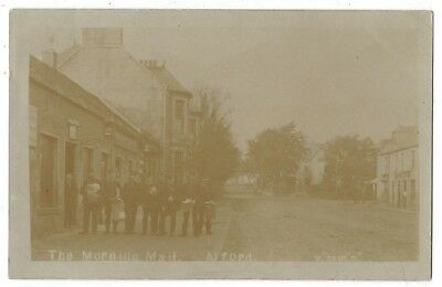 ALFORD The Morning Mail at Post Office, Aberdeen RP Postcard Postally Used 1909