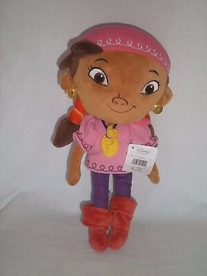 "New DISNEY STORE 12"" Plush IZZY Jake And The Never Land Pirates PETER PAN Doll"