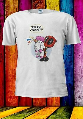 Deadpool Unicorn Rainbow It's So Fluffy Funny Men Women Unisex T-shirt 925